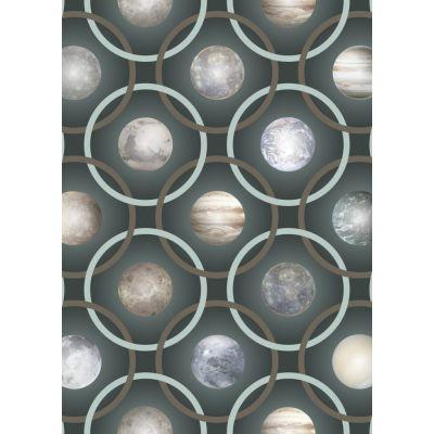 Planetas Rug, Rectangular Blue Dark, Wool, 200 x 300 cm