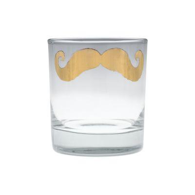 Poirot Gold Moustache Tumbler