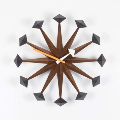 Polygon Clock walnut