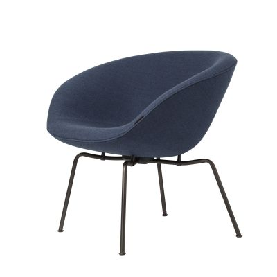 POT™ Lounge Chair FH 6001 - Blue, Dark Brown Powder Coated