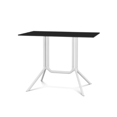 Poule Double Table, Rectangular Tip-up Top White, Black, L100 x D59 x H75
