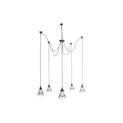 Praia Cluster Chandelier Antique Brass