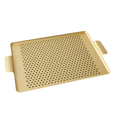 Pressed Rubber Grip Tray Gold, Small