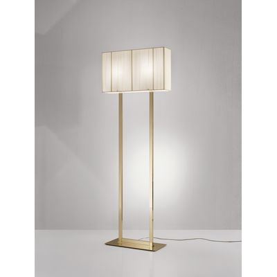 PT Clavius Floor Lamp White, Chrome