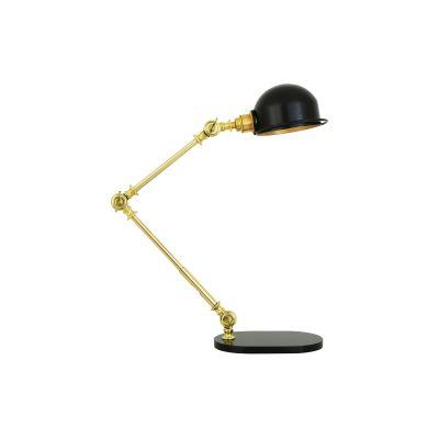 Puhos Table Lamp Powder Coated White & Polished Brass, UL Plug