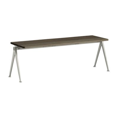 Pyramid bench 11 Black Frame, Smoked Oak Tabletop, 85cm