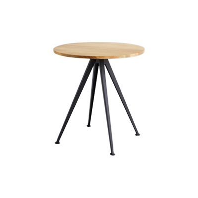 Pyramid Round Café Table 21 Oiled Oak, Black
