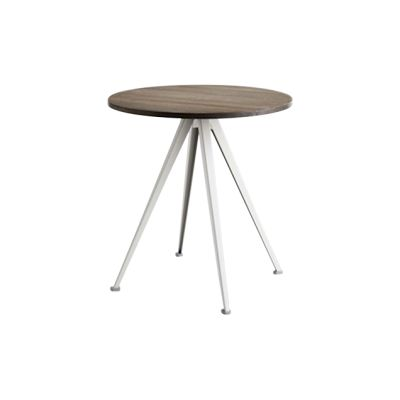 Pyramid Round Café Table 21 Smoked Oak, Beige
