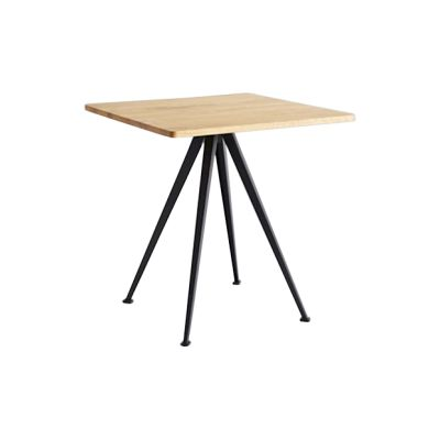Pyramid Square Café Table 21 Oiled Oak, Black