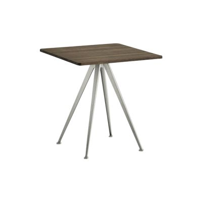 Pyramid Square Café Table 21 Smoked Oak, Beige