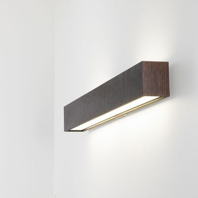 Quadrat Wall Lamp Fluorescent, Wenge