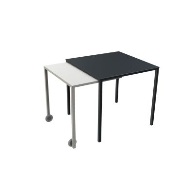 Rafale Square Table White, White