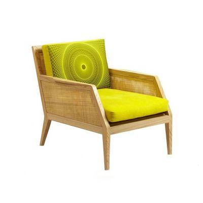 Raffa Chair Walnut, Red