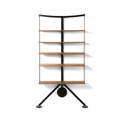 Ran Library Bookshelf Wood White Ash