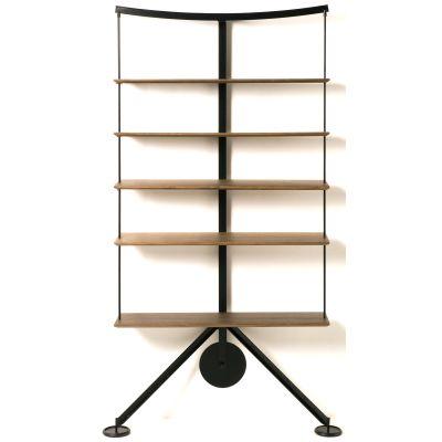 Ran Library Bookshelf Walnut Veneer