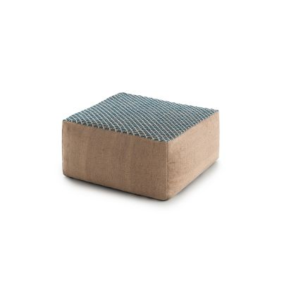 Raw Small Pouf Blue