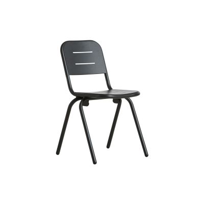 Ray Café Dining Chair - Set of 2 Charcoal Black