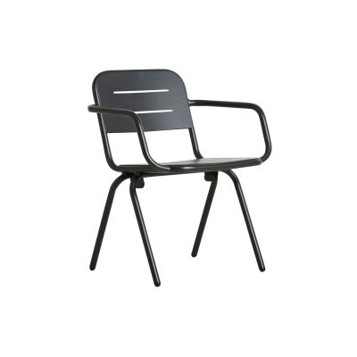 Ray Dining Chair with Armrests - Set of 2 Charcoal Black