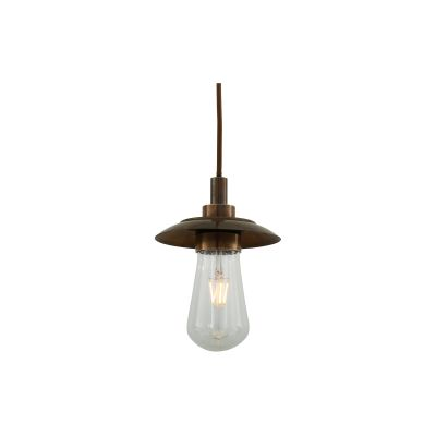 Ren Pendant Light Powder Coated White & Polished Brass
