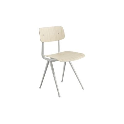 Result Chair Matt Oak Veneer Shell, Beige Frame