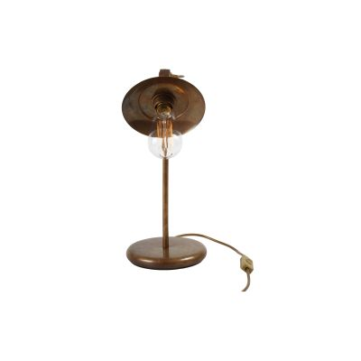Reznor Table Lamp Antique Brass, EU Plug