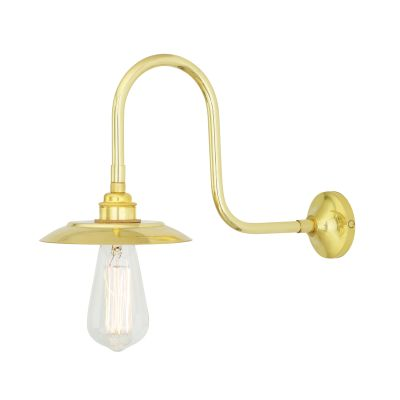 Reznor Wall Light Polished Brass