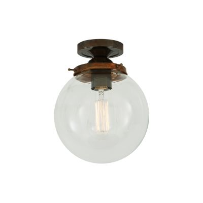 Riad Globe Ceiling Light Satin Chrome
