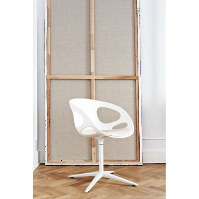 Rin Fixed Seat Upholstery Chair Tonus Meadow 115, Polished aluminium, Plastic Black