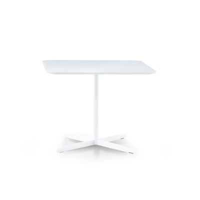 Roger Square Table Bi-Laminate - New 72, White/Bi-laminate