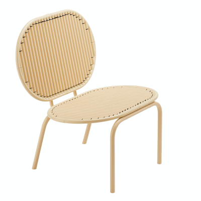 Roll Lounge Chair Beige