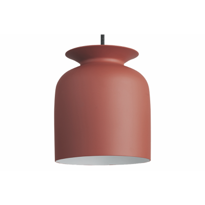 Ronde Pendant Light Gubi Metal Rusty Red, Ø20
