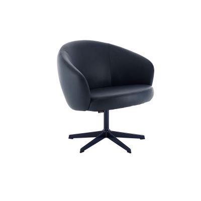 Rondino Swivel Chair No, White Lacquered, Main Line Flax Newbury