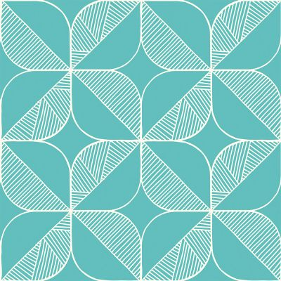 Rosette (Turquoise) Wallpaper Order A Sample