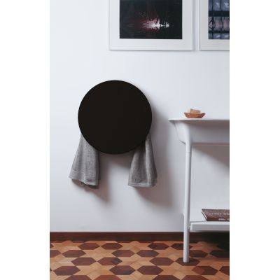 Round Towel Warmer Black