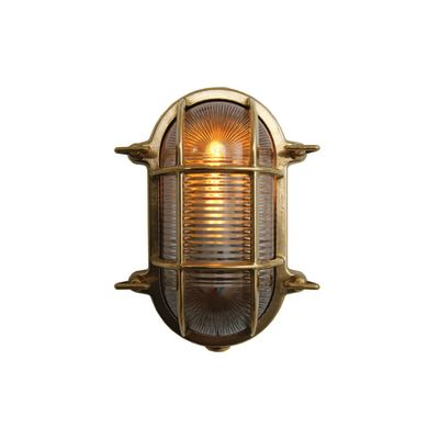 Ruben Small Oval Marine Wall Light Natural Brass