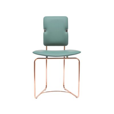 Safari S02 Chair Green, Copper Frame