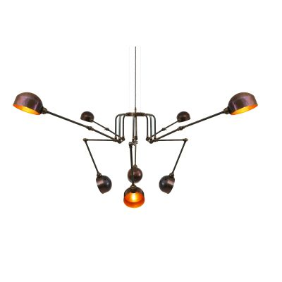 San Jose Modern Chandelier Antique Brass