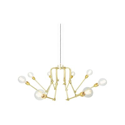 San Mateo Chandelier Polished Brass