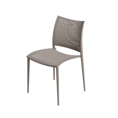 Sand-Air Upholstered Dining Chair - Stackable Reti S03 Net - White, B62 Matt White, Yes