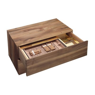 SB12 Martoub Humidor Walnut and Brass