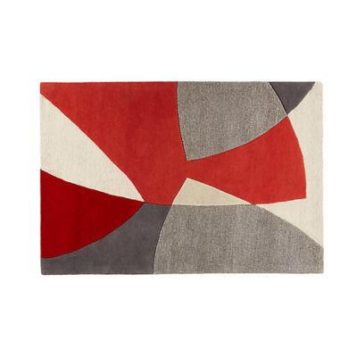 Scatter Red Wool Rug Scatter Red Wool Rug