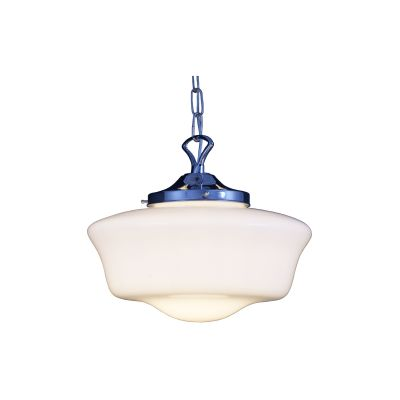 Schoolhouse Pendant Light Satin Chrome
