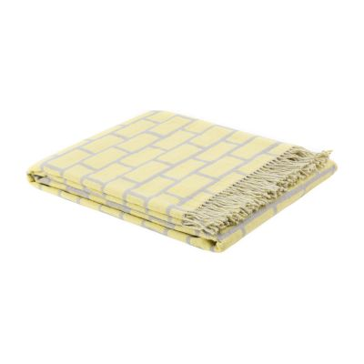 Scribble Throw Brick Yellow/Grey