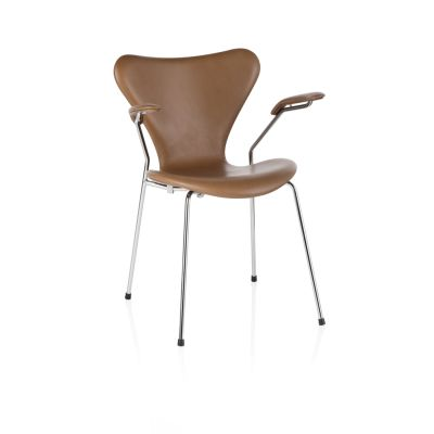 Series 7 Armchair - fully upholstered Soft Leather Black