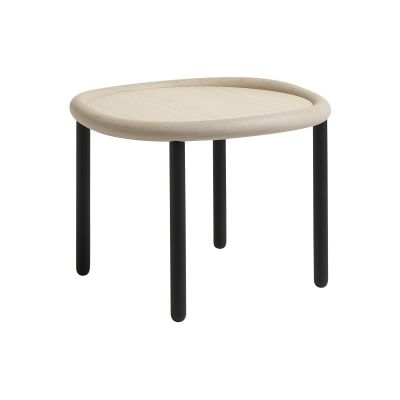 Serve Side Table - Ex display Light White Top, Black Legs, Small