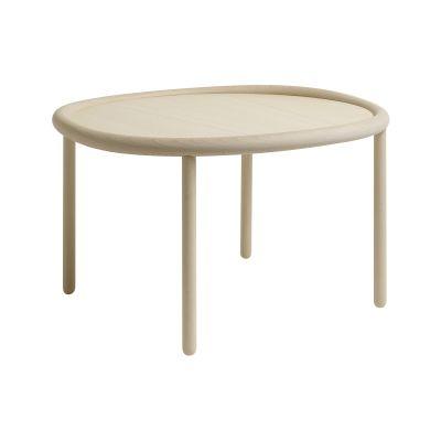 Serve Side Table Light White Top, Light White Legs, Large