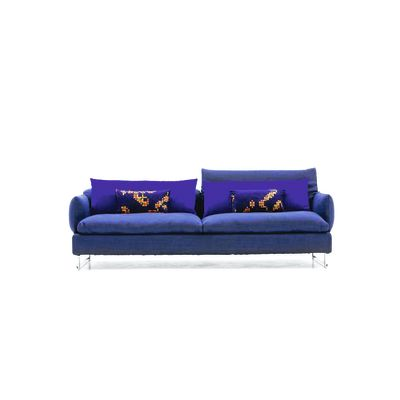Shanghai Tip Sofa - new 214, A7219 - Field 222 ecru, Steel Chrome