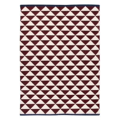 Shards: Contemporary Handwoven Wool Rug Shards: Contemporary Handwoven Wool Rug (Large Maroon)
