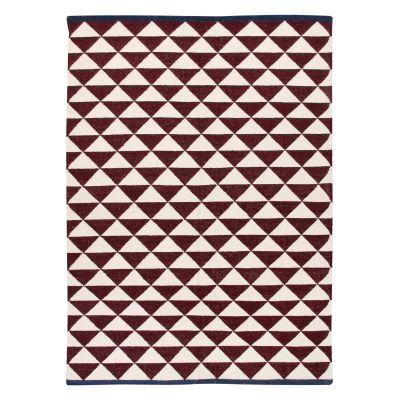 Shards: Contemporary Handwoven Wool Rug Shards: Contemporary Handwoven Wool Rug (Large Maroon)