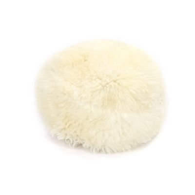 Sheepskin Baa Pouffe in Ivory